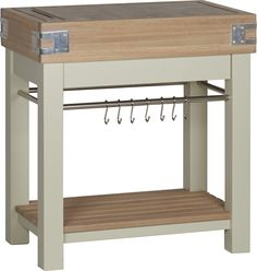 A design for when you're looking for the practicality and traditional feel of a freestanding chopping block table, but want a more contemporary look. Shaker Style Kitchens, Block Table, Wooden Kitchen, Kitchen Living, Kitchen Furniture, Traditional, Contemporary, Simple, Butcher Blocks