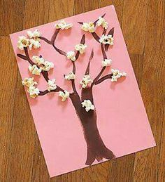 Spring Blossom Tree Preschool Craft--just did this with my sunbeam class (all bo. - Spring Blossom Tree Preschool Craft–just did this with my sunbeam class (all boys) to teach them - Daycare Crafts, Classroom Crafts, Toddler Crafts, Classroom Tree, Spring Art Projects, Projects For Kids, Crafts For Kids, Craft Kids, Spring Crafts For Preschoolers