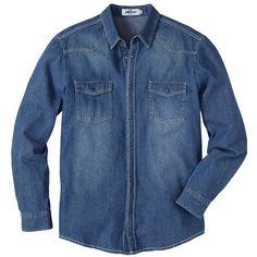 Hemd mit Brusttaschen - Cooles blaues Hemd von John Baner. Es überzeugt durch seine leichte Used Optik und die vielen Kombinationsmöglichkeiten. - ab 24,99€