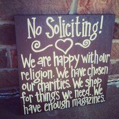 No solicitation