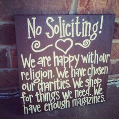 No solicitation