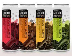 Gaba functional beverage range #packaging