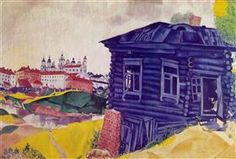 The Blue House - Marc Chagall