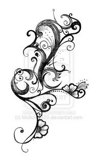 SEE MORE TATTOO IDEA BLACK AND WHITE FLOWER