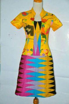 Blouse Batik, Batik Dress, Dress Brokat Modern, Kitenge, Kebaya, Ikat, Short Sleeve Dresses, Couture, Womens Fashion
