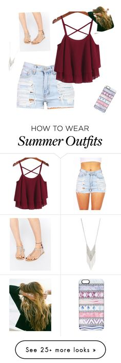 """Summer outfit #3"" by meganmckemie on Polyvore featuring Casetify, Lane Bryant, ASOS, Lulu DK, women's clothing, women's fashion, women, female, woman and misses"