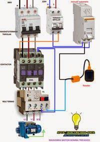 Esquemas eléctricos: MOTOR BOMBA TRIFASICA MANUAL-AUTOMATICO