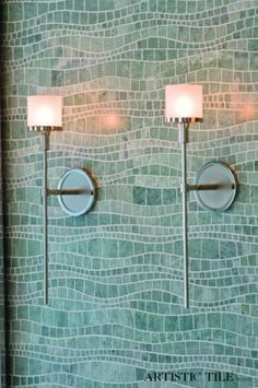 Artistic Tile's sinuous tile wall - woould love to be surrounded by this in a bath