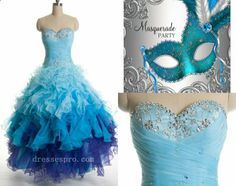 gorgeous blue masquerade ball gown!!!