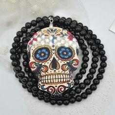 Mexican Tattoo Sugar Skull Pendants Necklace //Price: $9.95 & FREE Shipping //     #skull #skullinspiration #skullobsession #skulls