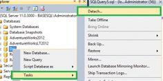 SQL Server Detach a Database