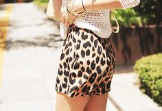 I want leopard print shorts.