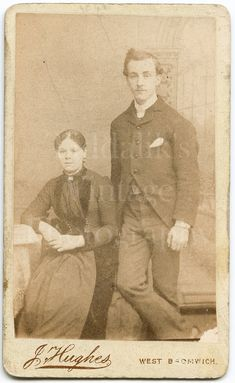 Victorian Young Couple, Portrait ~ CDV Photo ~ J Hughes of West Bromwich, 1870s Antique Carte de Visite Photograph | Etsy