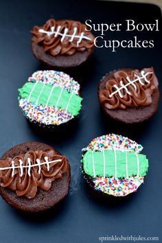 Super Bowl Chocolate Cupcakes Cupcakes Tutorial — Sprinkled With Jules