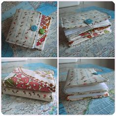 How to sew a needle book! I want to make a matching one to go with my sewing kit. :)
