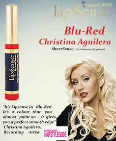 Blu- Red Christina Aguilera's top rated LipSense. Senegence Tiffany Hulsey Independent Distributor #188878