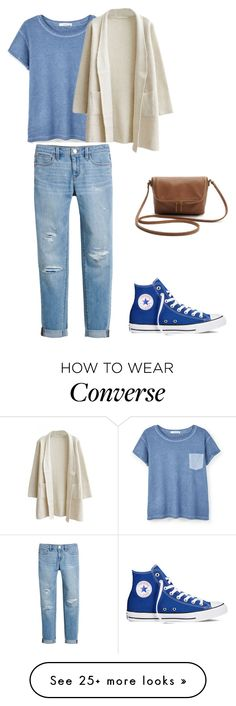 """""""Untitled #331"""" by alltimelow2010 on Polyvore featuring MANGO, White House Black Market, Converse, women's clothing, women, female, woman, misses and juniors"""