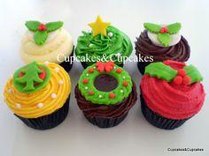Celebra el día de Navidad con Cupcakes&Cupcake. Chile.