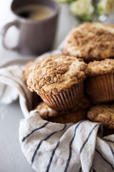 coffee cake streusel muffins from cooking with cocktail rings #recipe #muffin #breakfast