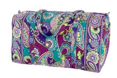 Vera Bradley Large Duffel (Heather) - This travel bag has long handles and loads of room, yet is still carry-on compliant. One easy-access end pocket. - Travel Duffels - Apparel - $85.00