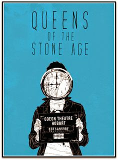 Queens of the Stone Age Boneface Hobart Poster Australia