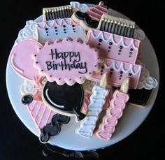 Happy Birthday Celebration Sugar Cookies by NotBettyCookies, $32.00
