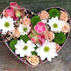 Heart full of flowers Flower Quotes, Heart Shapes, Flower Arrangements, Floral Wreath, Wreaths, Box, Bucharest, Hearts, Home Decor