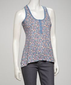 Take a look at this Blue Racerback Tank by Simply Irresistible on #zulily today!