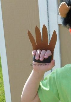 diy monster claws, easy costume idea, easy costume, monster hands, thrifty…