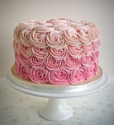 rose swirls in pink are so beautiful