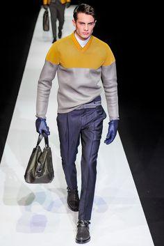 Emporio Armani Fall 2013 Menswear Fashion Show
