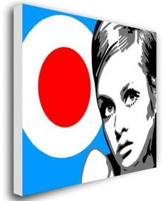 "I love 'Op Art' as we called it. Twiggy was an icon and the Target was very much ""The Who'. I would have this as very large statement art displayed on the wall."