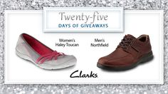 Welcome to the 1st day of our 25 Days of Giveaways! In celebration of our 25th anniversary, we will be giving away two pairs of shoes each day. Enter here for your chance to win Clarks shoes. #25DaysofGiveaways
