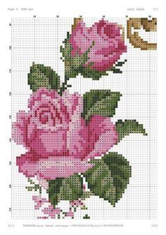 - Her Crochet Cross Stitch Rose, Cross Stitch Flowers, Cross Stitch Charts, Cross Stitch Designs, Cross Stitch Patterns, Cross Stitching, Cross Stitch Embroidery, Hand Embroidery, Cross Stitch Landscape
