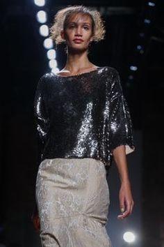 Tracy Reese Ready To Wear Spring Summer 2016 New York Live Fashion, Fashion Show, Runway Fashion, Latest Fashion, Lace Skirt, Sequin Skirt, Tracy Reese, Spring Summer 2016, Ready To Wear