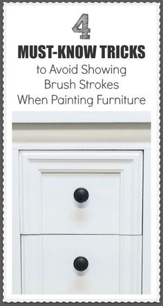 I always strive for a smooth finish when working on a piece of furniture, at least on the base paint, before distressing or aging it. In my opinion, brush strokes …