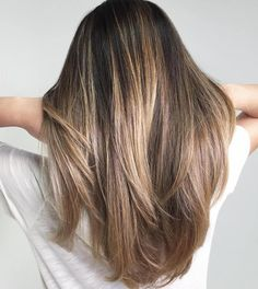Balayage for Summer - Straight Hair - Brunette to Blonde - Long Hair