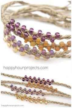 DIY Easiest Braided Bead Friendship Bracelet Ever...