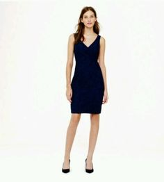 New $275 J Crew Sara Dress Leavers Lace Size 12 Acropolis Blue Cocktail 02890 | eBay