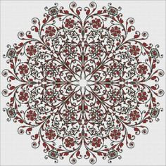 French Filigree cross stitch pattern at Heaven and Earth Designs
