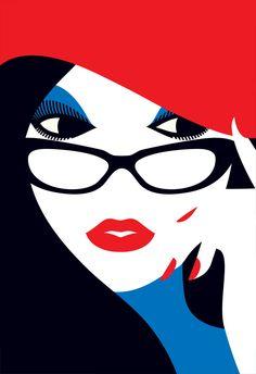 Malika Favre is a London-based, French-born illustrator/graphic designer. Her bold vector illustrations are stunning. Malika Favre's Portfolio Art And Illustration, Arte Pop, Pop Art, Arte Fashion, Hijab Fashion, Art Graphique, Grafik Design, Art Design, Vector Art