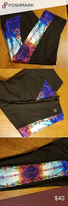 BNWOT Lularoe Jade. Jade workout capris large. Southwest print down side of leg. Buy two listings out of my closet and i will send a free pair of Brand New Lularoe Leggings. LuLaRoe Pants Capris