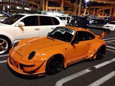 RWB993 from Japan Maserati, Bugatti, Ferrari, Porsche Sports Car, Porsche Models, Porsche Cars, Rolls Royce, Rauh Welt, Porsche 930
