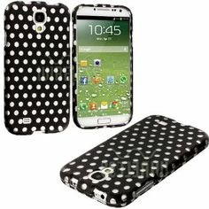"""Classic Black + White Polka Dots Series (2 Piece Snap On) Hardshell Plates Case for the Samsung Galaxy S4 """"Fits Models: I9500, I9505, SPH-L720, Galaxy S IV, SGH-I337, SCH-I545, SGH-M919, SCH-R970 and Galaxy S4 LTE-A Touch Phone"""""""