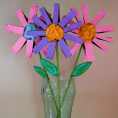Spring Flower Kids Craft Tutorial