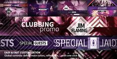 "Clubbing PromoThe ""CLUBBING PROMO"" AE CS 5.0 Full HD template is a corporate opener (60 seconds, 25 media, 1 logo and 28 texts placeholders) allowing you to create in minutes a great advertisement video for any kind of event or product. This template package includes: global controls (allowing you to define with one click the main colors, reflections….), detailed html help file, free fonts links and music links http://videohive.net/item/clubbing-promo/6514465?ref=signs09"
