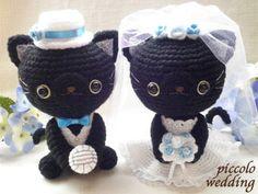 pareja nocios gatos negros amigurumi pagina japonesa