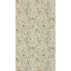 Morris & Co. Mary Isobel   Perigold Foyer Wallpaper, Wallpaper Roll, Acanthus, Holiday Sales, Pink Silk, Embroidered Silk, Embroidery Designs, Mary, Floral