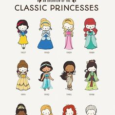 Princess Poster! :) https://www.etsy.com/listing/183112901/classic-princesses-poster-digital?ref=shop_home_active_1 & http://society6.com/CatPlusMouse/An-Overview-of-the-Classic-Princesses_Print#1=45. #catplusmouse #customportrait #fashionillustration #illustration #doodle #disney #madewithpaper #princesses