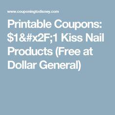 Printable Coupons: $1/1 Kiss Nail Products (Free at Dollar General)